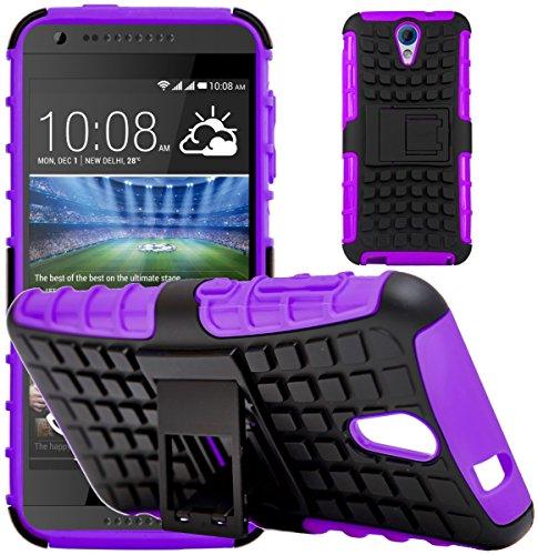 G-Shield Hülle für HTC Desire 620/620g Stoßfest Schutzhülle mit Ständer - Lila