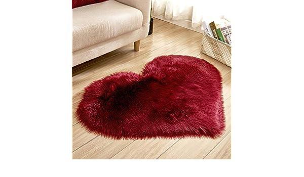 Rart cuore a forma di tappeti cuscino da pavimento pelliccia super