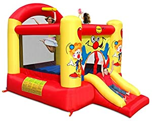 Happy Hop- Clown Slide and Hoop Bouncer, (9304Y)
