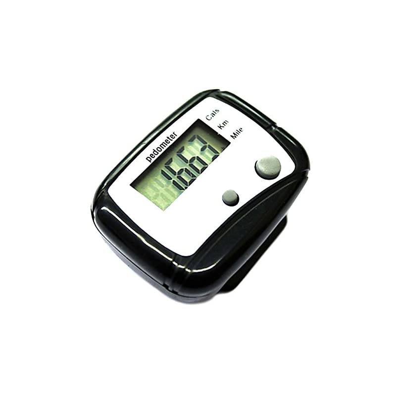 LCD Pedometer Step Calorie Kilometer Counter Walking Distance Smart Pedometer Pocket Clip for Step Distance Counter…
