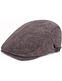 MAOZIX Sombrero de Espiga de Algodón para Hombre Gorras de Boina Ajustables  Sombrero de Pico de 061211b5e44