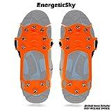 Schuhspikes Mit 10 Noppen, Schuhkralle,Kieselgel Anti Rutsch Eisspikes für Den Stiefel, Steigeisen - By EnergeticSky™