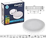 7w GX53 LED Lamp Daylight Cool White Low Energy Saving Downlighter Kitchen Under Cabinet Lighting Replacement Light Bulb GX 53 Round Disc Style 240v Direct Replacement for CFL 9w 7w 13w Lamps