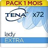 Tena Lady Extra Serviettes pour Fuites Urinaires / Incontinence (Pack 1 mois de 72 Serviettes)