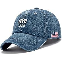 Denim Solid Azul Jeans ciudad de Nueva York sombrero gorra de béisbol Snapback 1985la bandera americana
