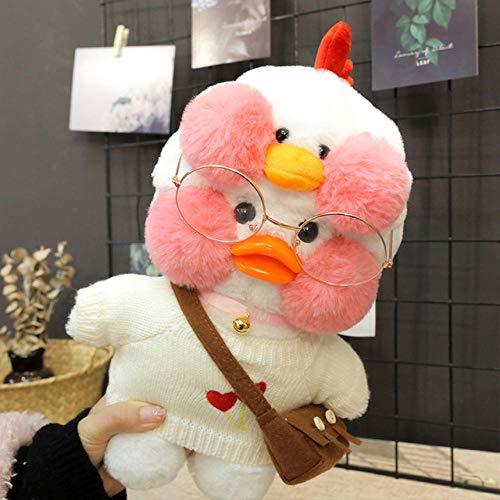 YRBB Plüschtier Baby Kawaii Ente Plüschtier Niedlichen Tier Gelbe Ente Weiches Haar Puppe Spielzeug Weihnachten Geburtstagsgeschenk Kinder Mädchen Dekoration 30 cm