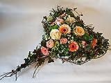 Grabgesteck mit Frischen Blumen ,,Von Herzen kommend,, Größe 95 Euro