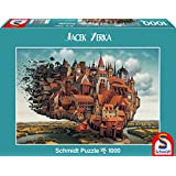 Schmidt Spiele 59512 - Puzzle - fliegende Stadt, 1000 Teile