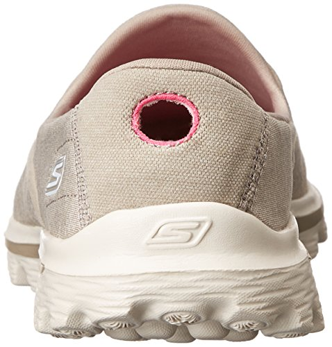 Skechers Gowalk 2 Super Sock, Sandali Donna Marrone (Taupe)
