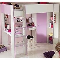 Parisot 2248lsur Set Möbel Kinderzimmer–Mademoiselle weiß megev Holz preisvergleich bei kinderzimmerdekopreise.eu