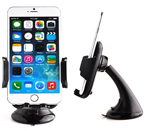 Preisvergleich Produktbild Cadorabo - Universal KFZ-Halter Autohalterung passend für alle Smartphones (iPhone HTC Nokia SonyEricsson LG Motorola Samsung Blackberry etc. / passt auch mit Bumper Case Tasche) No.12