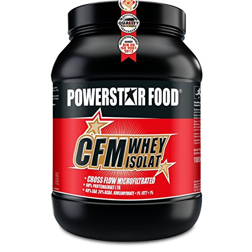 100% CFM WHEY ISOLAT Pulver - Bestseller Molkenprotein-Isolat - Whey Protein mit 93% (97% i.Tr.) Proteingehalt von höchster Qualitätsstufe durch cross flow microfiltrated MADE IN GERMANY (Natur ohne Süßungsmittel, 1000 g Dose) (Pure Protein Whey Bio)