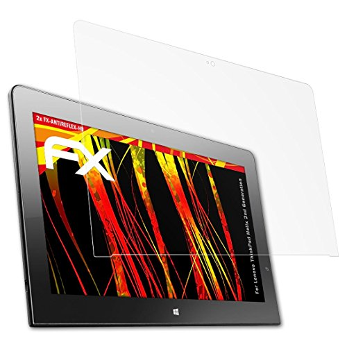 atFolix Schutzfolie kompatibel mit Lenovo ThinkPad Helix 2nd Generation Displayschutzfolie, HD-Entspiegelung FX Folie (2X) (Display-schutzfolie Thinkpad 2)