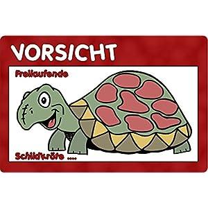 +++ SCHILDKRÖTE Reptil - Metall WARNSCHILD Schild Türschild Sign - REP 01 T6