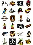 Piraten Tattoo Set 24 Kindertattoos - verschiedene Piraten Motive Kinder Spielen