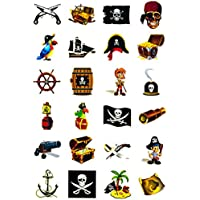 Piraten Tattoo Set 24 Kindertattoos - verschiedene Piraten Motive Kinder Spielen