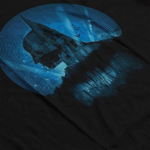 Batman City Knight Blue Women's Hooded Sweatshirt Black