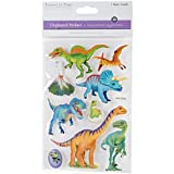 MultiCraft Handmade Lightweight Chipboard 3D Stickers-Dinos Rule