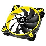 ARCTIC BioniX F140 - 140 mm Ventola da Gioco PWM PST, PWM Sharing Technology, Regolatore RPM in Sincrono, Ventilazione 200-1800 RPM, 0,6 Sone - Giallo