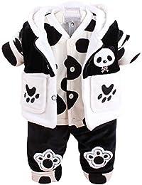 Freefisher, Set von Kleidung Gepolsterte für Babys, Motiv: Panda