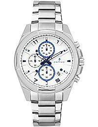 Ashwa White Dial Chronograph Hybrid Multi Dial Watch - AS9109