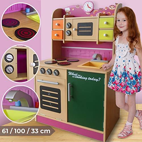 Cocina Infantil de Madera - con Microondas