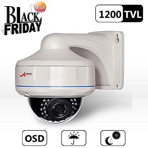 Anran 1200TVL Sensor CMOS imx138de Sony alta resolución 30IR LEDs Color Día visión nocturna Seguridad impermeable cámara de vigilancia CCTV domo Exterior/Interior