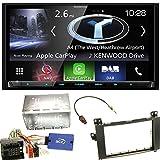 Kenwood DNX-8170DABS Navigation Bluetooth Freisprecheinrichtung Apple CarPlay Android Auto USB MP3 CD DVD Autoradio Naviceiver Touchscreen Einbauset für Mercedes Viano Vito W639