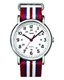Reloj Timex Unisex  Special Weekender Slip Through, Rojo (Rojo/Blanco)