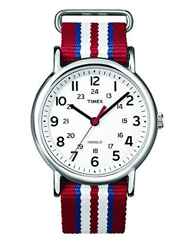 Timex Unisex-Armbanduhr Weekender Slip Through Analog Nylon T2N746D7 (Timex Damen-armbanduhr Blau)