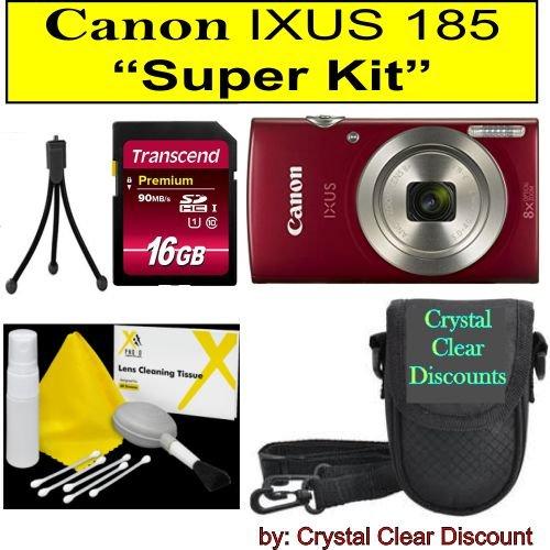 Canon IXUS 185 Digitalkamera Super Kit (Rot)