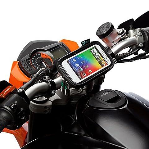 Rapide Déblocage Moto Vélo Support Guidon Kit + Résistant À L'eau étui Pour Large TéléPhones