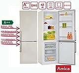Amica KGC 15912 BE Kühl-Gefrier-Kombination Beige A++ 297L Kühl-/Gefrierkombination/ColourFresh Line / 185,5 cm hoch