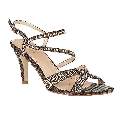 Sandali Con Cinturini Multi & Diamante Di Ibisco Bronzo Lotus 7