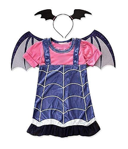 Costume Vampira - Costumino - Vampirina - Bambina - Travestimento - Carnevale - Halloween - Cosplay - Accessori - Cerchietto - Ali - Taglia 130-7 - 8 anni - idea regalo originale natale compleanno