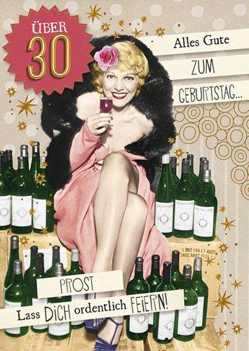 Postkarte A6 +++ LUSTIG von modern times +++ ÜBER 30 GOLD +++ BK.EDITION © Pigment Productions Ltd