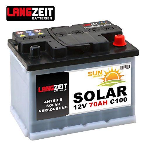 Solarbatterie 70Ah 12V Wohnmobil Boot Camping Schiff Rollstuhl REHA Batterie Solar 60Ah