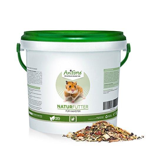AniForte Natur-Futter für Hamster 1 kg, Hamsterfutter speziell für Gold-Hamster, Zwerg-Hamster und Teddy-Hamster