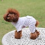 Sixminyo Haustier-Schlafanzug für Hunde, gestreift Rose
