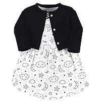 مجموعة ملابس قطنية مكونة من كنزة كارديغان وفستان وحذاء للبنات الرضع من هدسون Dreamer 2-piece Set 6-9 Months