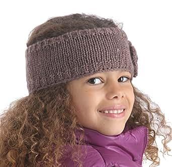 RJM Mädchen Strick-Stirnband,Lurex, Einheitsgröße, 3 Farben  - Braun - Mocha Brown - One size