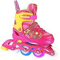 Ancheer Inline Skates für Kinder Jungen Mädchen - Rollschuhe Einstellbare Größen Beleuchtung Räder Atmungsaktives Mesh Dreifachschutz Aluminium Rahmen Einstellbare