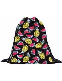 Internet Unisex 3D Ananas Wassermelone Rucksack