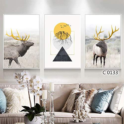 zlhcich Finnis Triple Wohnzimmer dekorative Malerei C0133 Malerei Herz 60 * 90cm - Gelbe Sand-holz Ständer