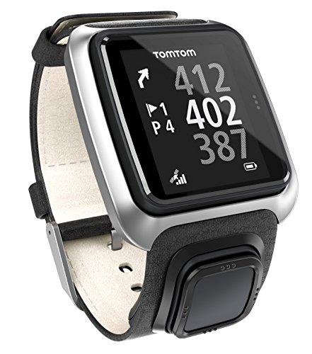 Golfuhr schwarz – TomTom Golfer GPS-Uhr, Lederarmband - 2