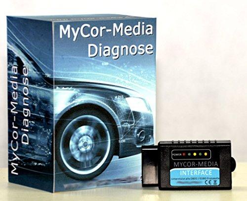 MyCor-Media Bluetooth Interface für Chrysler CAN-Bus OBD2 Diagnose +Apps u. Software Chrysler Can-bus