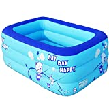 Aufblasbarer Swimmingpool, PVC-aufblasbare Badewanne Kinder Marine Ball Pool Portable Hot Spring Bad (Design : B, Size : 120cm)