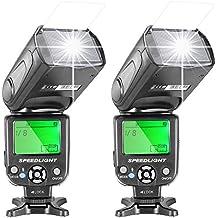 Neewer NW-561Flash Speedlite con pantalla LCD para Canon Nikon Panasonic Olympus Fujifilm y otras cámaras réflex digitales como Canon 700D, 650D, 600D, 5D Mark II III y Nikon D7200 D7100 D5200 D5000, 2 unidades