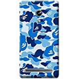 Bloody Branded Back Case For Asus Zenfone 6 | Asus Zenfone 6 Back Cover | Asus Zenfone 6 Back Case - Printed Designer Hard Plastic Case - Camouflage Theme(Blue & Sky Blue)