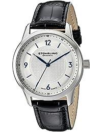 Stührling Original Classique 572 - Reloj de cuarzo, para hombre, con correa de cuero, color negro